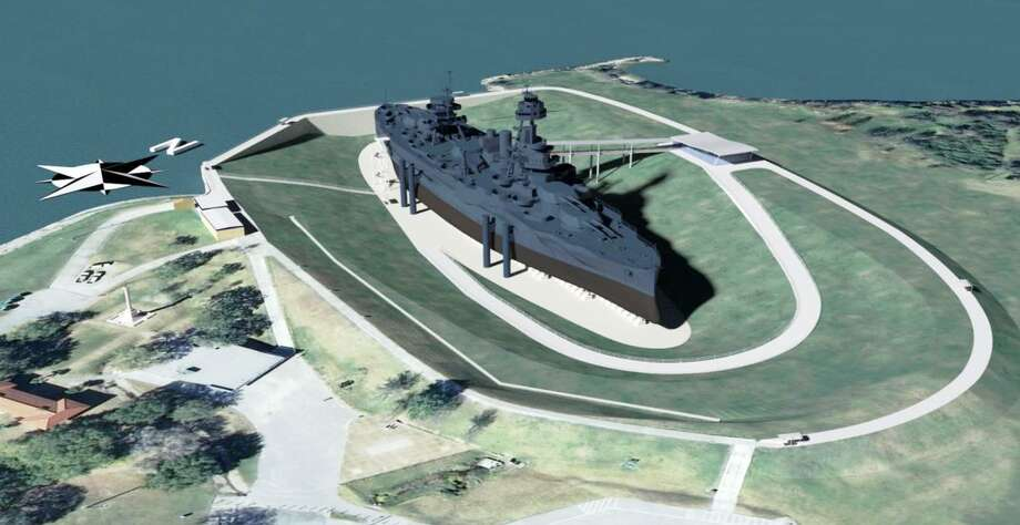 This is one of the dry berth proposals in a study done by the Texas Parks and Wildlife Department. Photo: Submitted / TPWD- Battleship TEXAS Archives