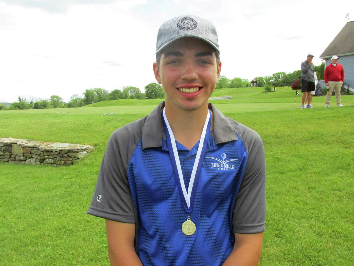 Lewis Mills' Colby Norton won the CIAC Division III golf tournament individual championship with a 69 Tuesday, June 4, 2019 at Harwinton's par-72 Fairview Farm Golf Course.