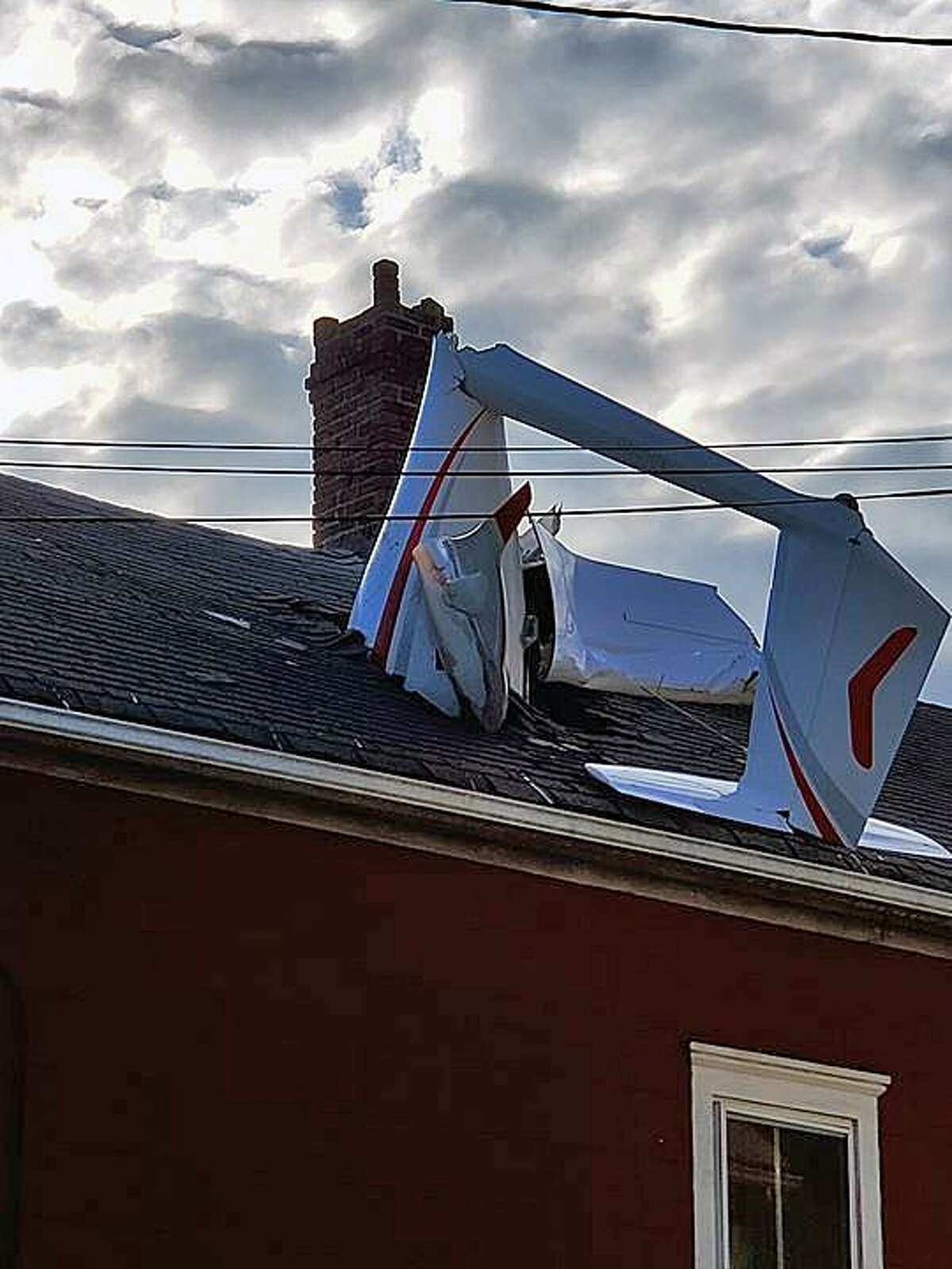An image of the glider that crashed through the roof of a Golden Hill Avenue home in Danbury, Conn., on June 4, 2019.