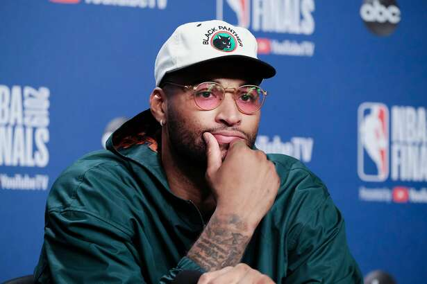 Golden States DeMarcus Cousins speaks with media post game at Scotiabank Arena on Monday, June 3, 2019 in Toronto, Ontario, Canada.