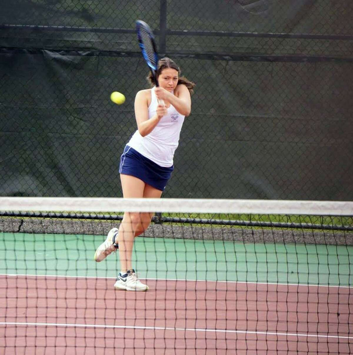 Staples' Alyssa Dimaio advanced to Wednesday's State Open singles final.