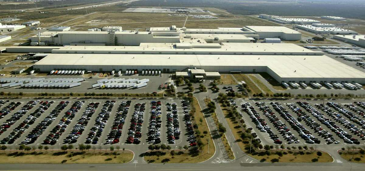 The Toyota Motor Manufacturing, Texas, Inc. plant in south Bexar County is seen in this Jan. 18, 2013 aerial photo.