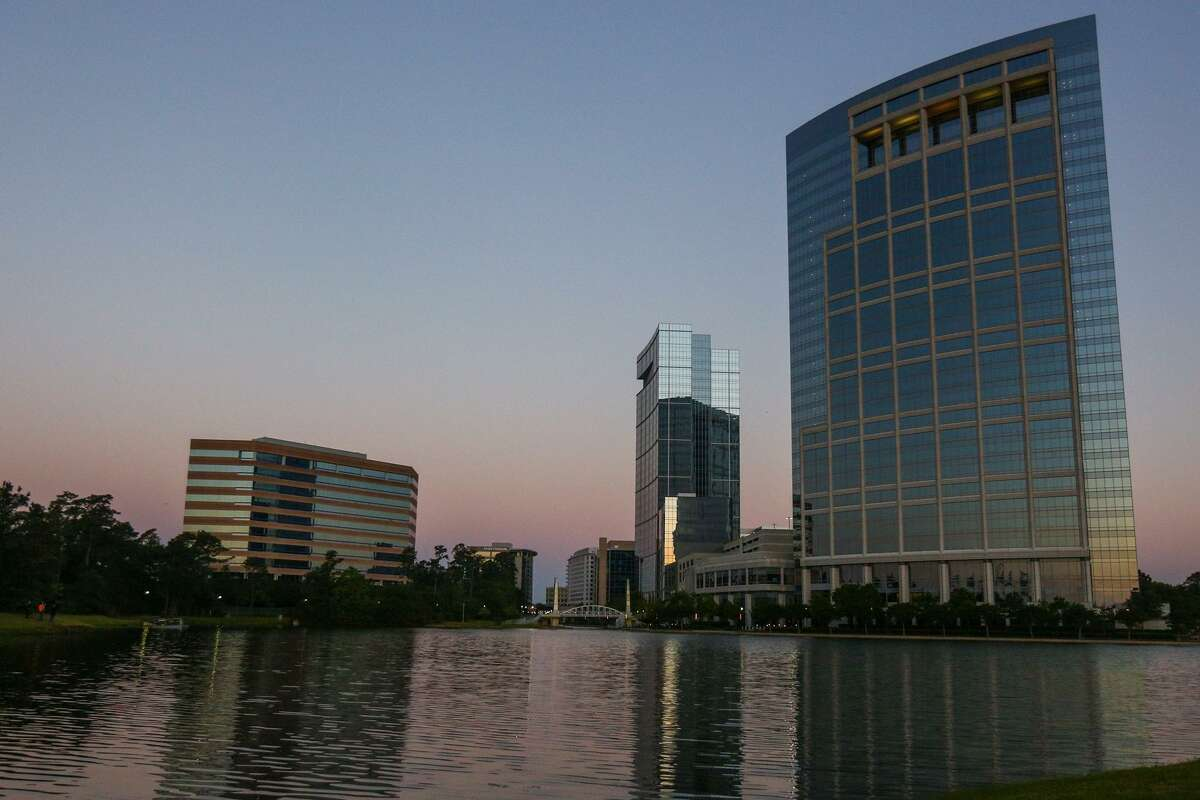 Anadarko's Timberloch Tower off The Woodlands Waterway. The future of Anardarko's headaquarters in The Woodlands is up in the air following the company's acquisition by Occidental Petroleum.