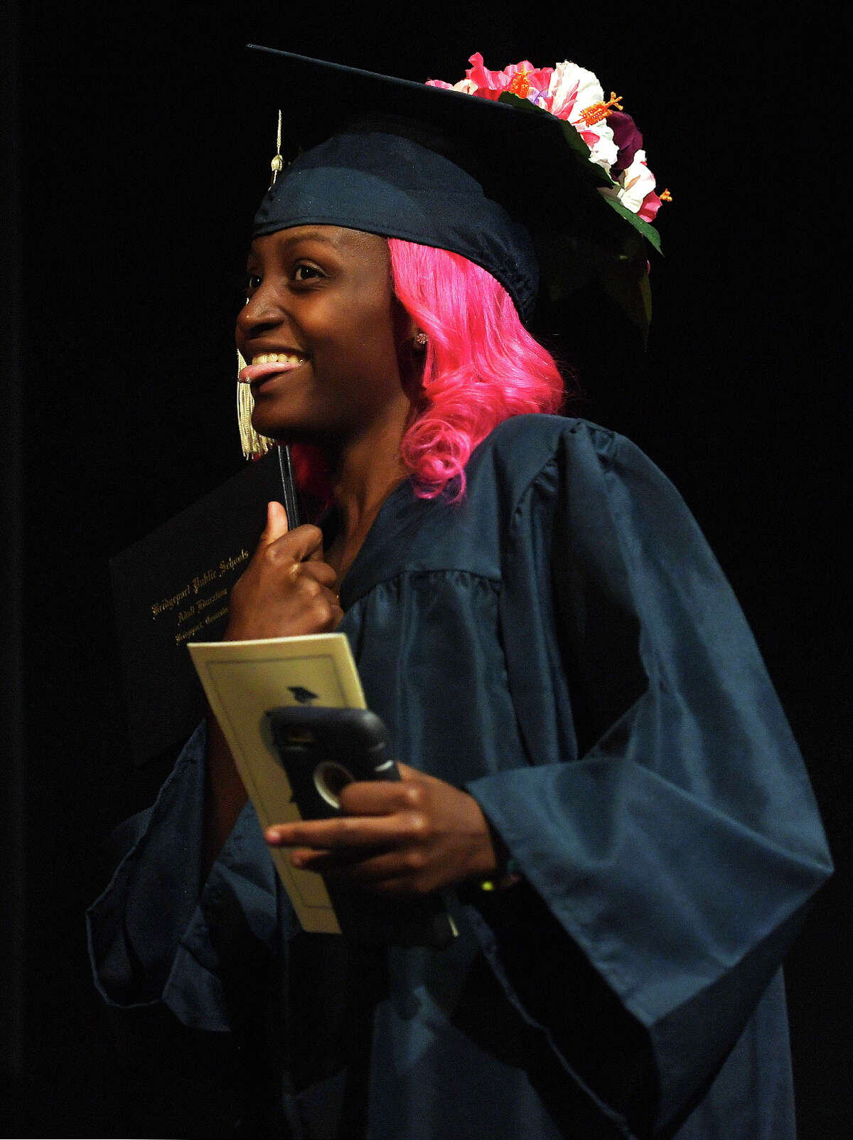 The Bridgeport Adult Education Graduation at the Klein Memorial Auditorium in Bridgeport, Conn. on Tuesday, June 3, 2019.
