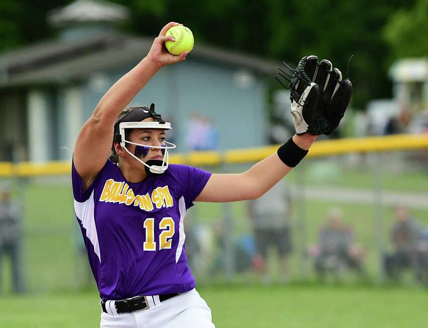 Ballston Spa pitcher Lauren Kersch throws the ball during the Class A softball final against South Glens Falls at the Luther Forest Complex on Tuesday, June 4, 2019 in Malta, N.Y. (Lori Van Buren/Times Union)