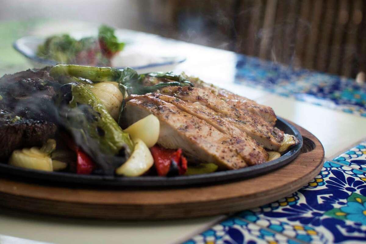 Chicken and beef fajitas at The Original Ninfa's Uptown Houston, 1700 Post Oak.