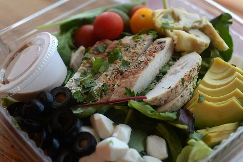 Chicken Caprese is among the featured salad creations at Gather : Paleo Cafe and Market.  Photo taken Thursday, August 4, 2016 Kim Brent/The Enterprise Photo: Kim Brent / Kim Brent / The Enterprise / Beaumont Enterprise