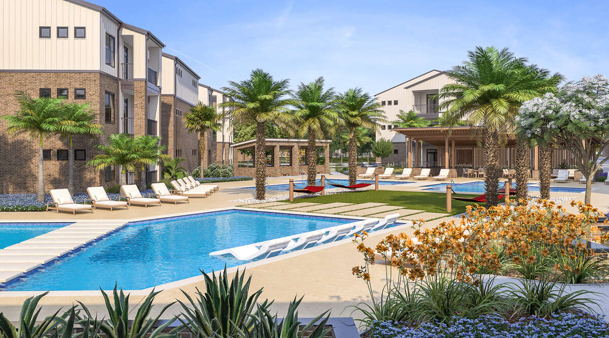 Rents are expected to range from $1,000 to $2,300 per month at Oden Hughes's new 380-unit apartment and townhome development at the northeast corner of Bay Area Boulevard and Middlebrook Drive in the Clear Lake Community. Opening is planned in mid-2020.