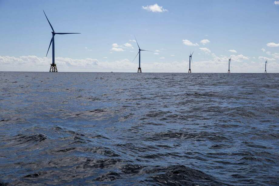 The GE-Alstom Block Island Wind Farm stands in the water off Block Island, Rhode Island. Photo: Eric Thayer / Bloomberg / © 2016 Bloomberg Finance LP