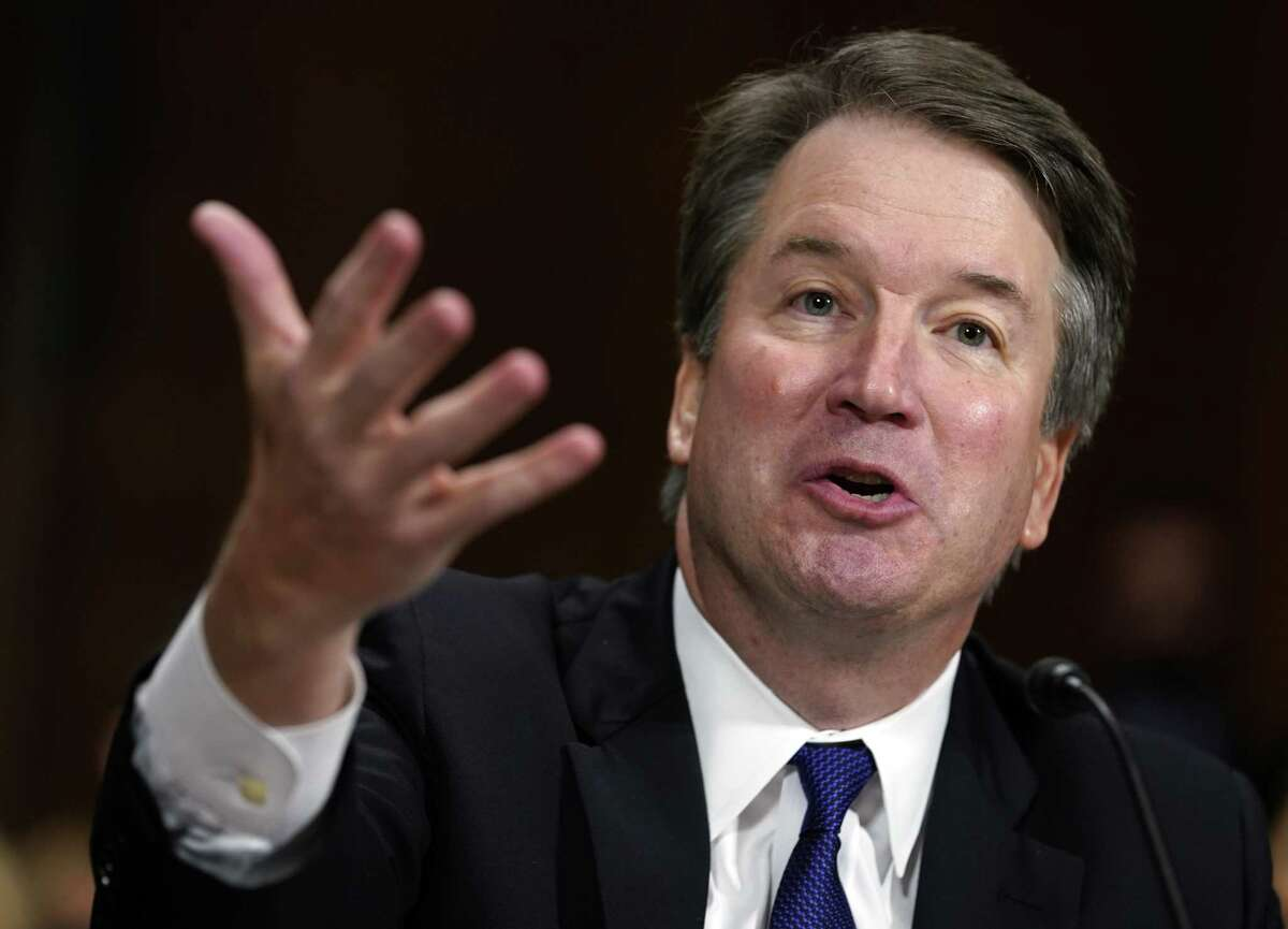 FILE - In this Sept. 27, 2018, file photo, Supreme Court nominee Brett Kavanaugh testifies before the Senate Judiciary Committee on Capitol Hill in Washington. Kavanaugh's statement during his testimony,