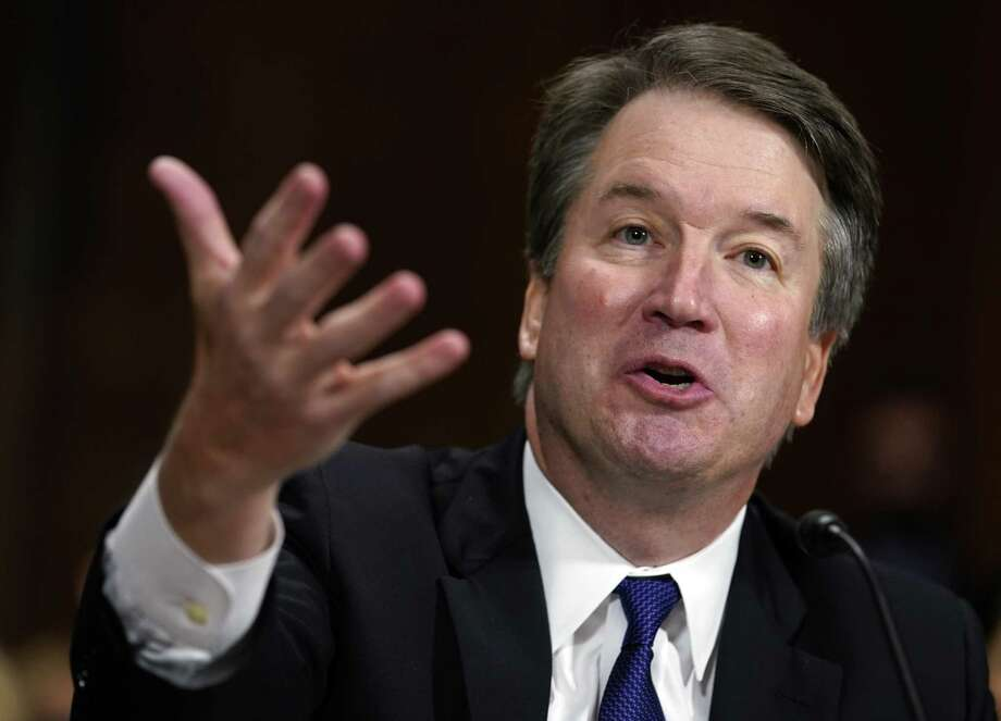 "FILE - In this Sept. 27, 2018, file photo, Supreme Court nominee Brett Kavanaugh testifies before the Senate Judiciary Committee on Capitol Hill in Washington. Kavanaugh's statement during his testimony, ""I liked beer. I still like beer."" is No. 2 on a Yale Law School librarian's list of the most notable quotes of 2018. (AP Photo/Andrew Harnik, Pool, File) Photo: Andrew Harnik / Associated Press / Copyright 2018 The Associated Press. All rights reserved."