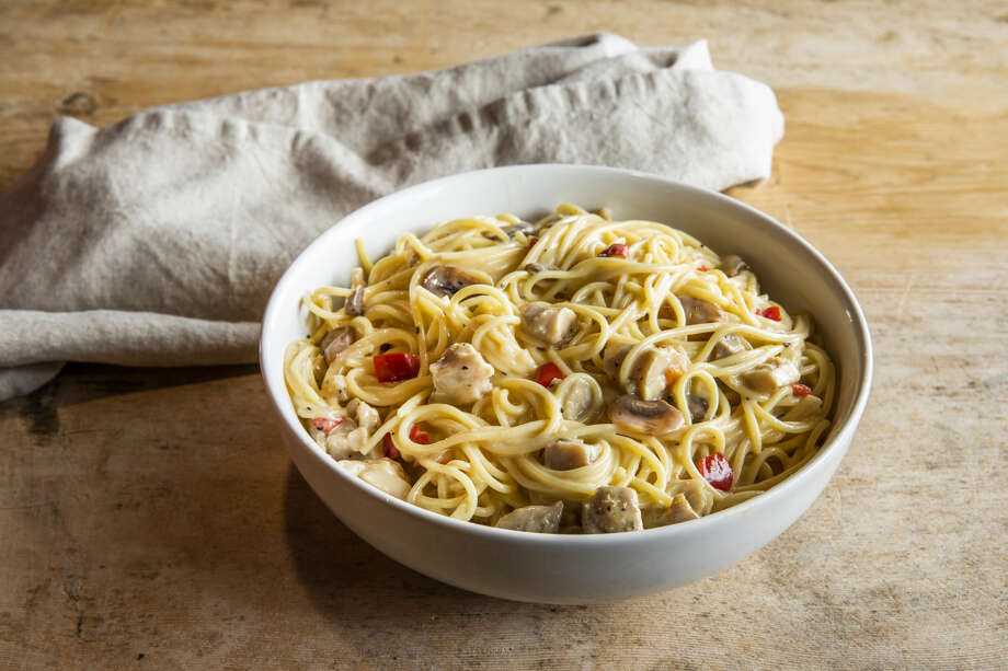 Luby's Tetrazzini is now available in the freezer section of Texas H-E-B stores. Photo: Julie Soefer