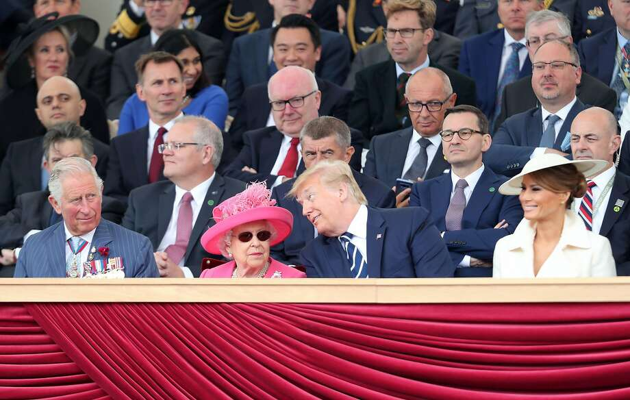 Prince Charles, Queen Elizabeth, President Trump and Melania Trump celebrate the D-Day landings. Photo: Chris Jackson / AFP / Getty Images