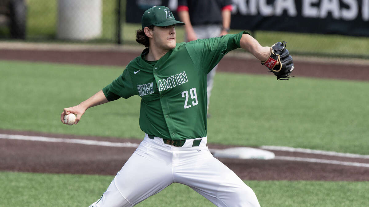 Shenendehowa graduate Ben Anderson won America East Pitcher of the Year as a Binghamton junior this season. (Binghamton athletic communications)