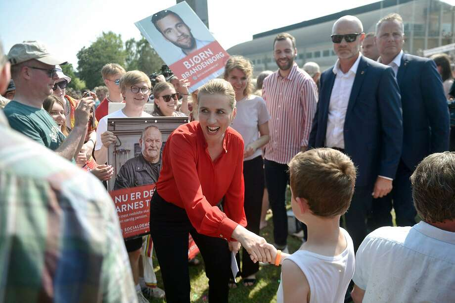 Mette Frederiksen may become Denmark's youngest-ever prime minister. Photo: Tim K. Jensen / AFP / Getty Images