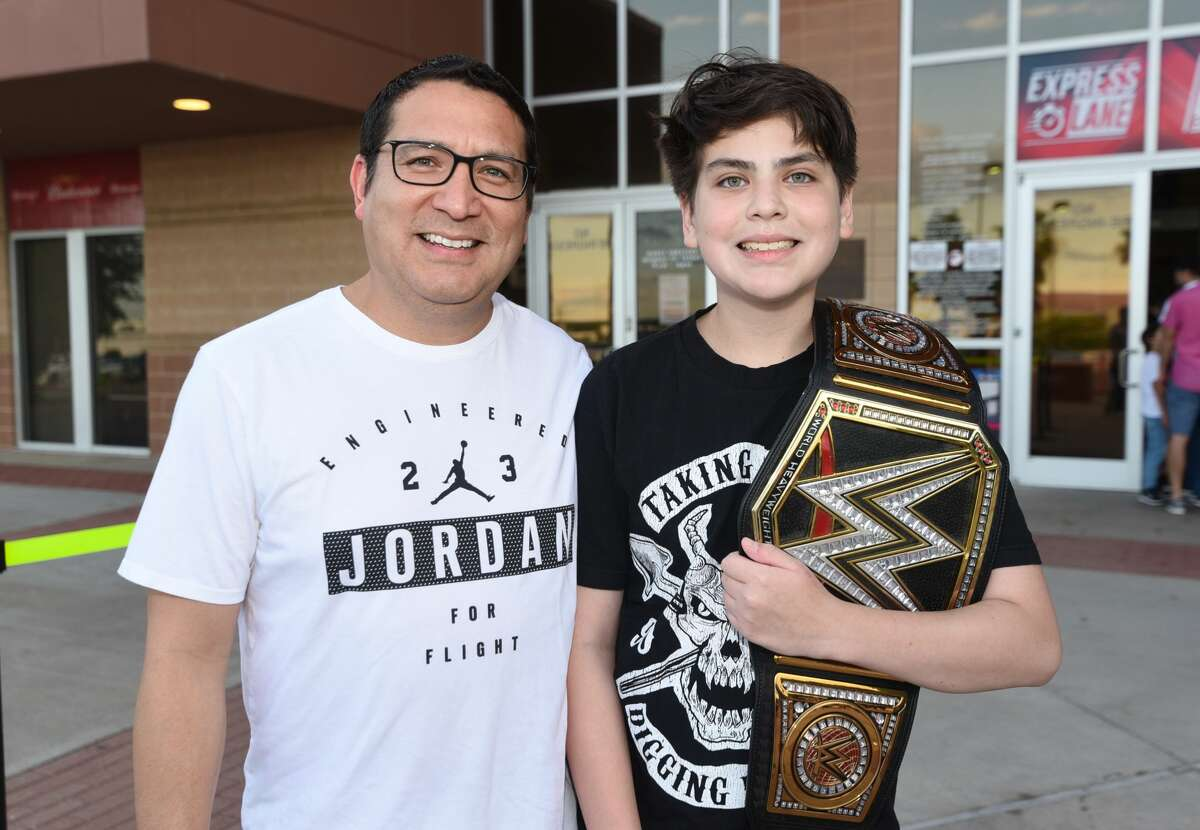 Wrestling fans head to the Sames Auto Arena on Tuesday, Jun 5, 2019, for the WWE Smackdown event.
