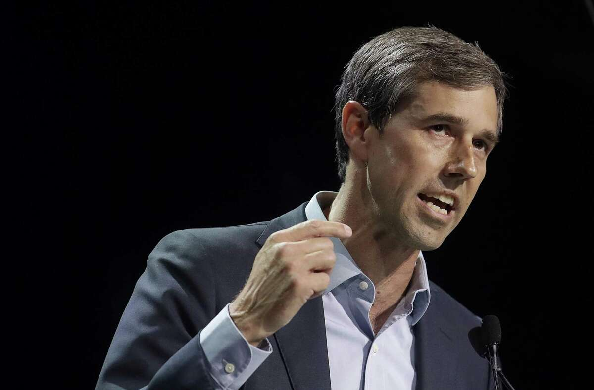 In this June 1, 2019, photo, Democratic presidential candidate and former Texas Congressman Beto O'Rourke speaks during the 2019 California Democratic Party State Organizing Convention in San Francisco. O'Rourke has unveiled a voting rights proposal he says can increase voter registration by 50 million and raise nationwide voter turnout to 65% _ seeking to ensure that 35 million new voters cast ballots in the 2024 presidential race. (AP Photo/Jeff Chiu)