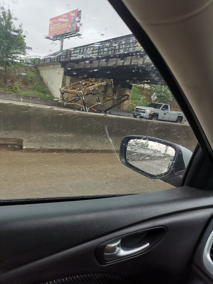 Lost load stuck under bridge blocks I-10 eastbound near Wayside