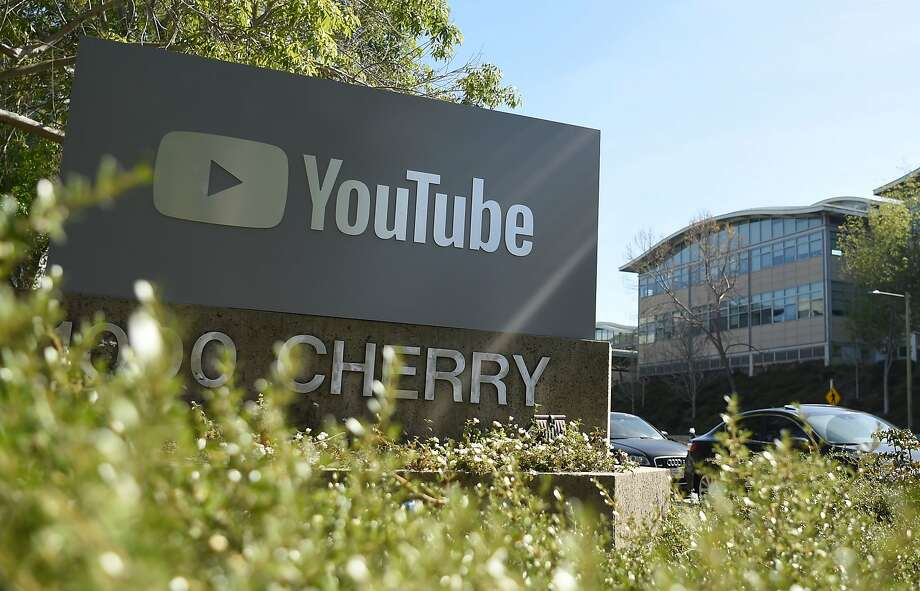 (FILES) In this file photo taken on April 3, 2018 YouTube's headquarters is seen in San Bruno, California on April 03, 2018. - YouTube said on June 5, 2019, it would ban videos that promote or glorify racism and discrimination as well as those denying well-documented violent events, like the Holocaust or the Sandy Hook school shooting. (Photo by JOSH EDELSON / AFP)JOSH EDELSON/AFP/Getty Images Photo: Josh Edelson, AFP/Getty Images