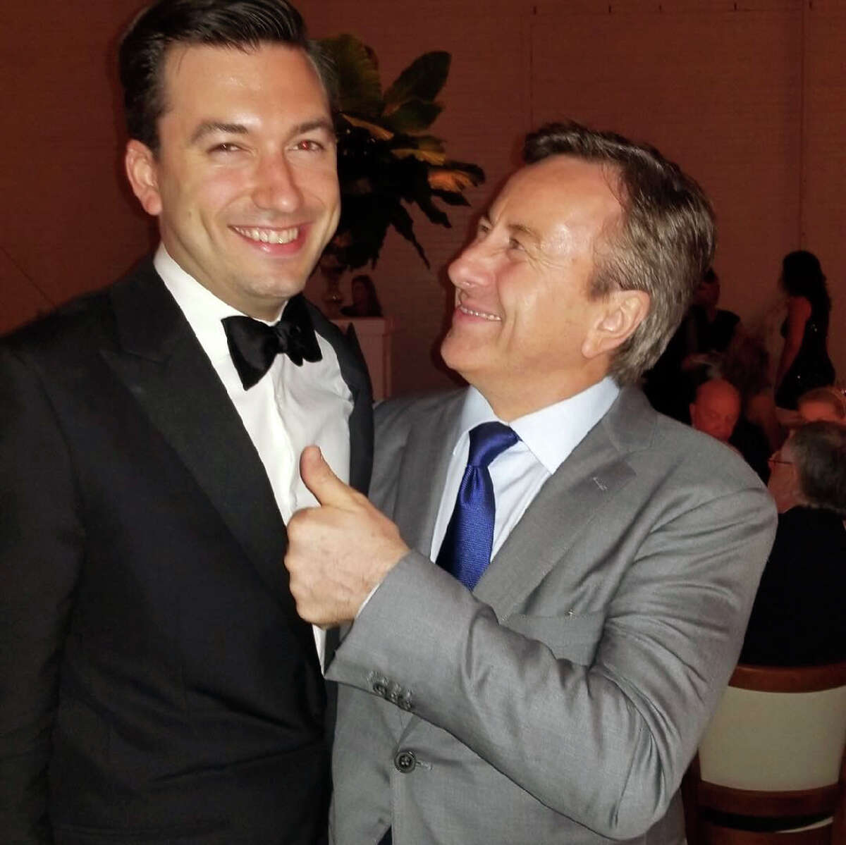 A graduate of the Culinary Institute of America in Hyde Park, New York, Bludorn's stellar resume includes working under two Michelin-starred chefs: Douglas Keen at Napa's Cyrus Restaurant and chef Daniel Boulud (pictured here on right) at the classic French restaurant, Café Boulud.