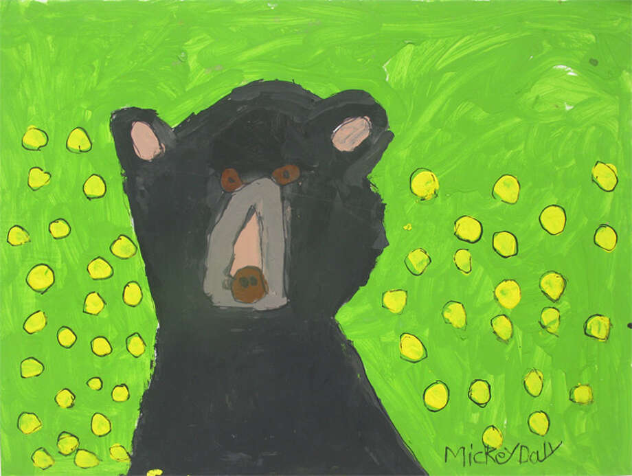 The March image of a bear was painted by Michael Daly.