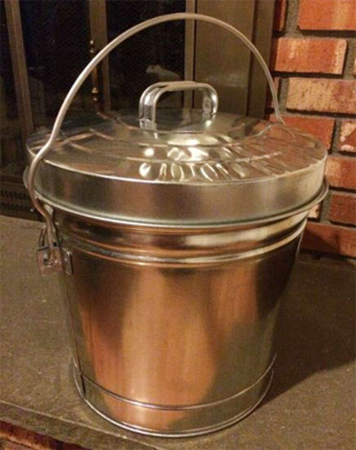This is a proper container for removing and storing ashes from fireplaces and wood stoves.
