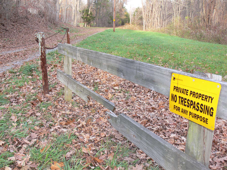 The entrance to the 35-acre Aquarion property on Beardsley Road where equipment more than four decades old in a pump station will be replaced.