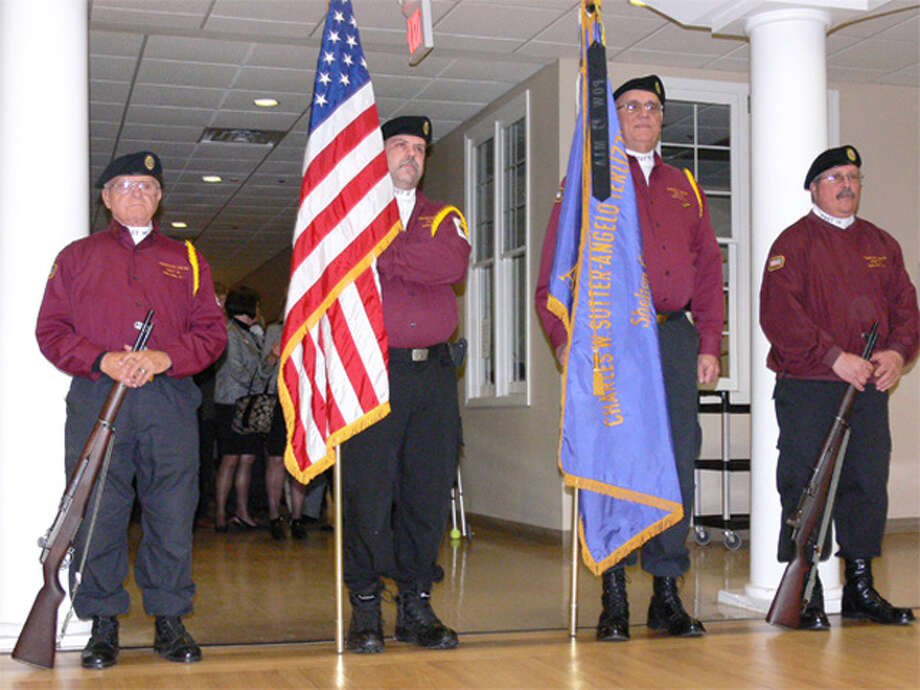 A color guard from Sutter Terlizzi American Legion Post 16 in Shelton at the inauguration.
