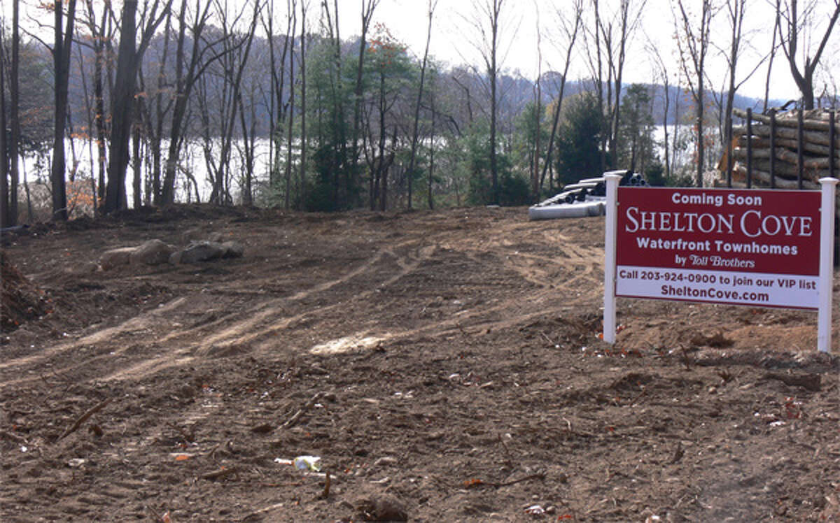 The Shelton Cove site off lower Route 110 soon after construction began last fall.