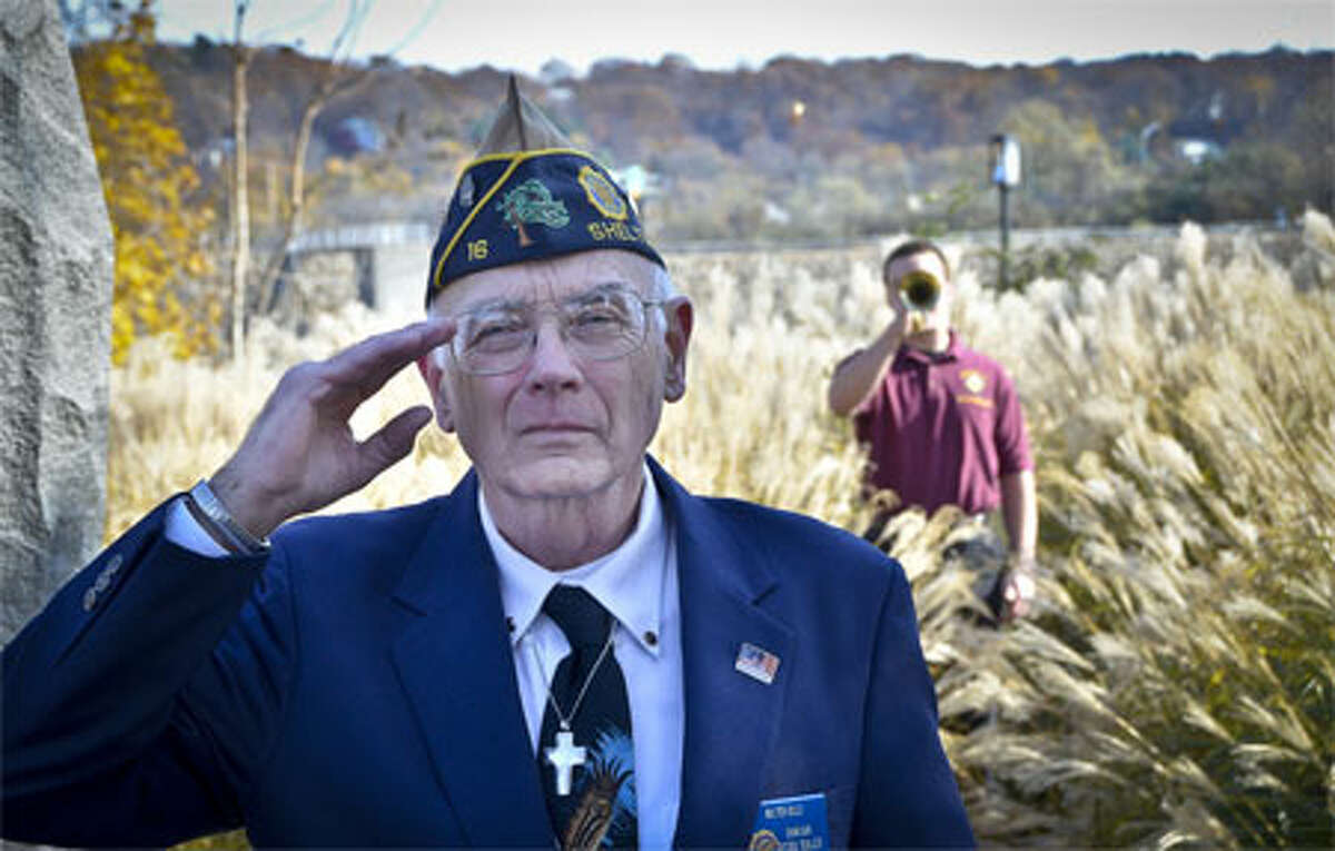 A Wayne Ratzenberger photo of the 2011 Veterans Day ceremony in Shelton.