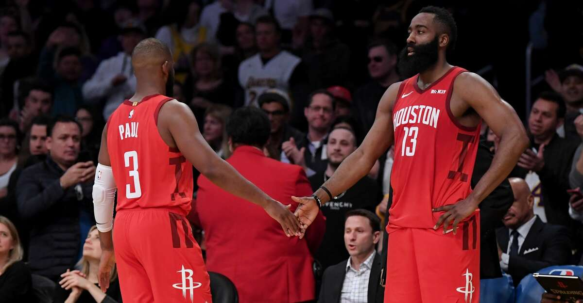 PHOTOS: Rockets game-by-game James Harden #13 of the Houston Rockets and Chris Paul #3 react as they both foul out during a 111-106 Los Angeles Lakers win at Staples Center on February 21, 2019 in Los Angeles, California. (Photo by Harry How/Getty Images) Browse through the photos to see how the Rockets did in each game last season.