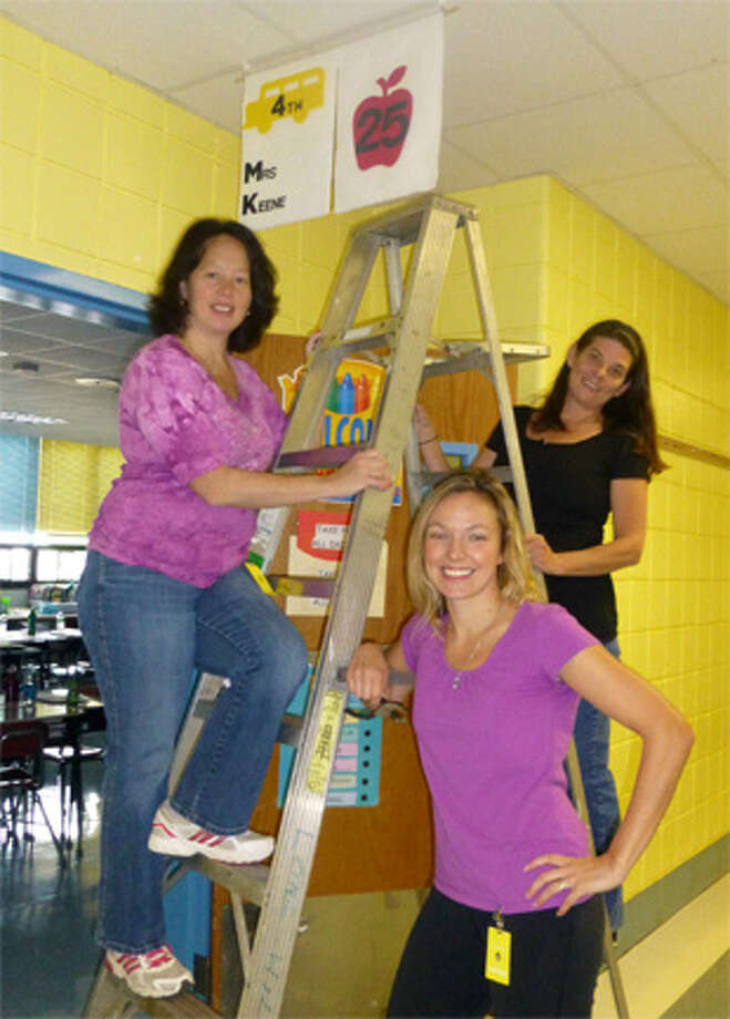 The Long Hill PTA made banners to better identify every room in the elementary school in case of an emergency.