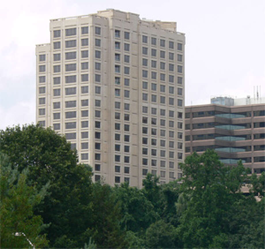 A view of R.D. Scinto's The Renaissance, a 17-story residential structure in Shelton with apartments and condos.