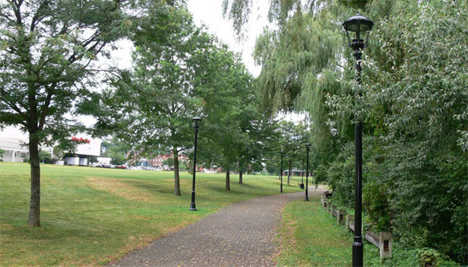 The Riverwalk is a popular place to stroll, with its brick walkway, lawn and views of the Housatonic River.