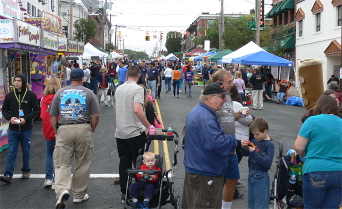 People of all ages walk up and down Howe Avenue during the event.