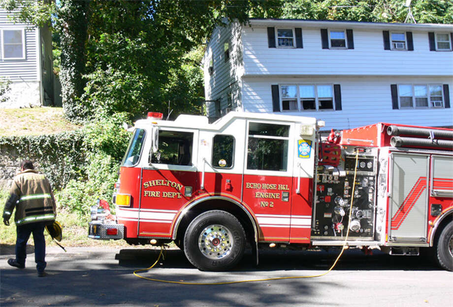 A scene from the kitchen fire at a Shelton duplex on Monday, Sept. 23.