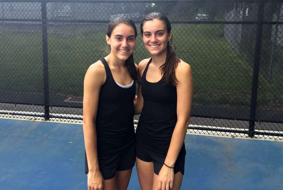 Stamford's doubles team of twins Devon and Taylor Yaghmaie won the State Open. Photo: Tim Murphy / Hearst Connecticut Media