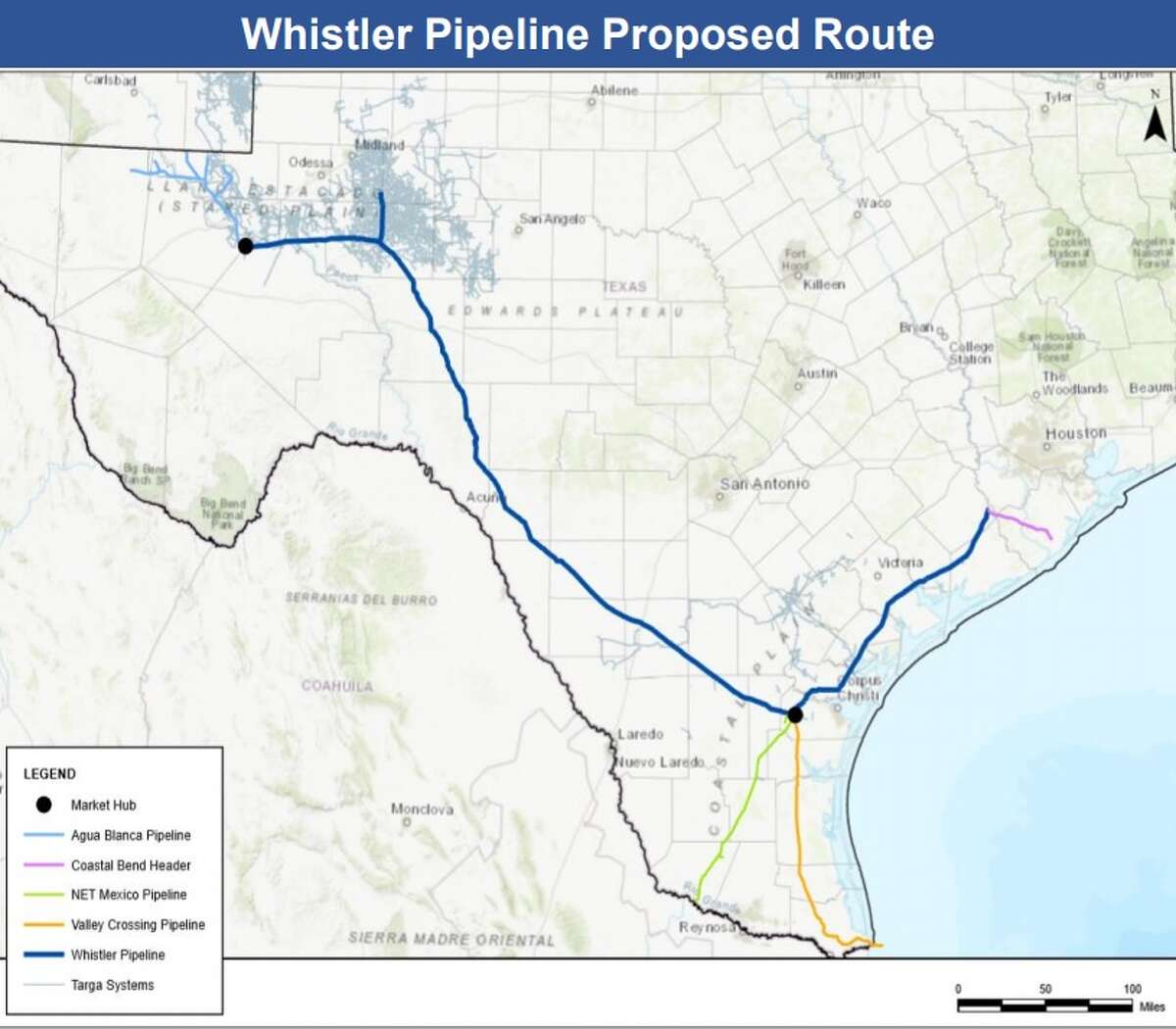 A pipeline project to move natural gas from the Permian Basin of West Texas to Corpus Christi is moving forward with three public meetings in Odessa, Uvalde and Alice.