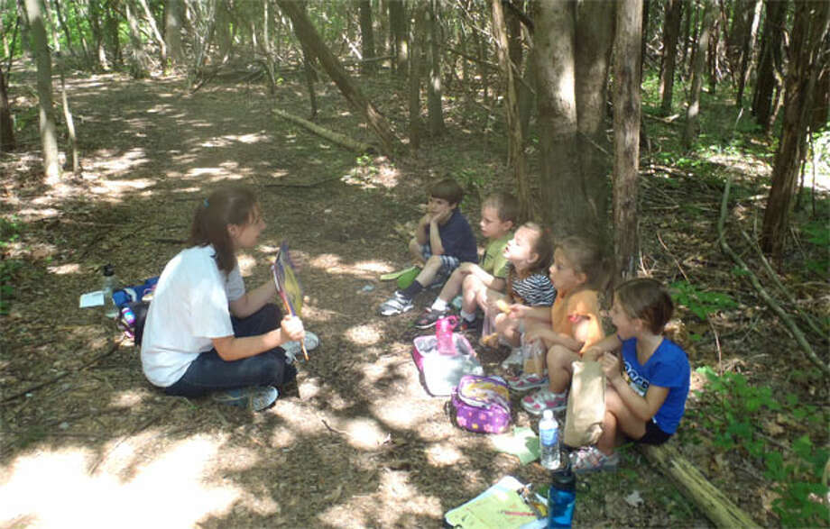 Participants learn about nature during Webb Mountain Discovery Zone's first summer program.