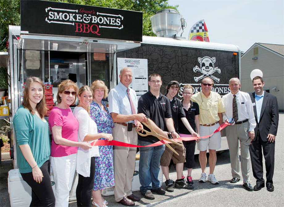 The grand opening for the new food truck location in Shelton.