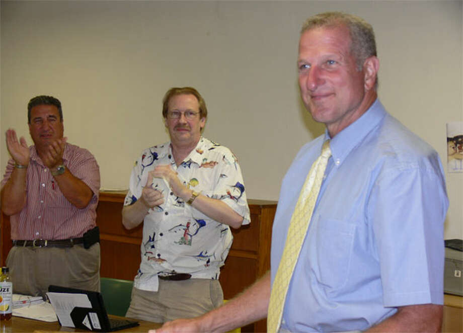 Mayor Mark Lauretti smiles after being renominated to run for a 12th term by the Shelton Republican Town Committee.