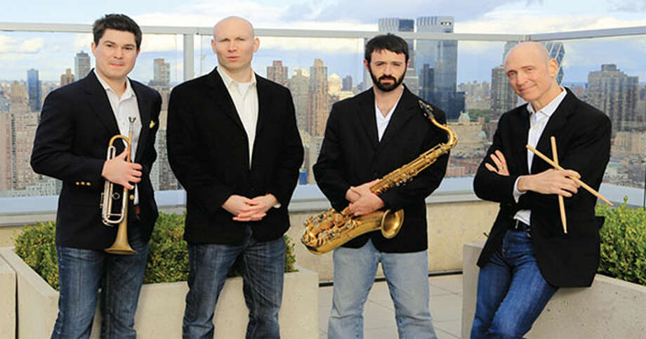 Shelton native and tenor saxophone Jon Blanck, second from right, with other Verve Jazz Ensemble members, from left, Tatum Greenblatt, trumpet; Matt Oestreicher, piano; and Josh Feldstein, drums.