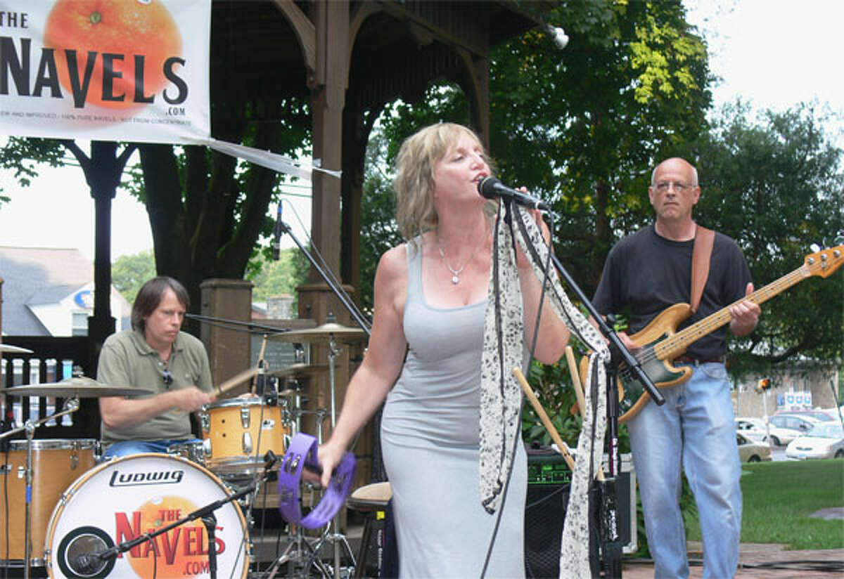 The Navels perform at the Huntington Green in Shelton in 2013. They return this year on July 9.