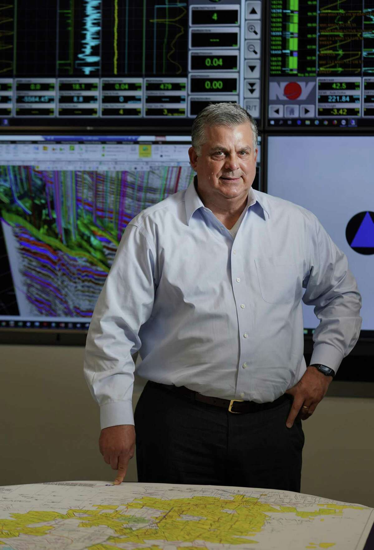 John A. Brooks, CEO of Houston-based oil producer Penn Virginia Corporation shown in May 2019 in Houston, says his entire team deserves the credit for the company emerging from bankruptcy a few years ago to become a small yet highly profitable shale producer.