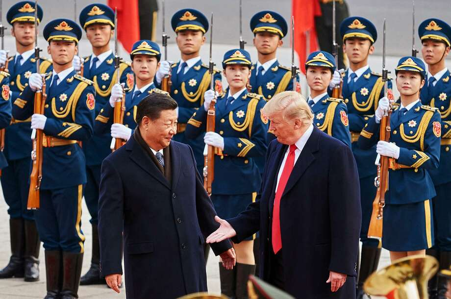 "Oil fell Friday after President Donald Trump said he was ""very close"" to a trade pact with China but warned that Beijing wants the deal more. Photo: Artyom Ivanov/Tass, MBR / TNS / Abaca Press"