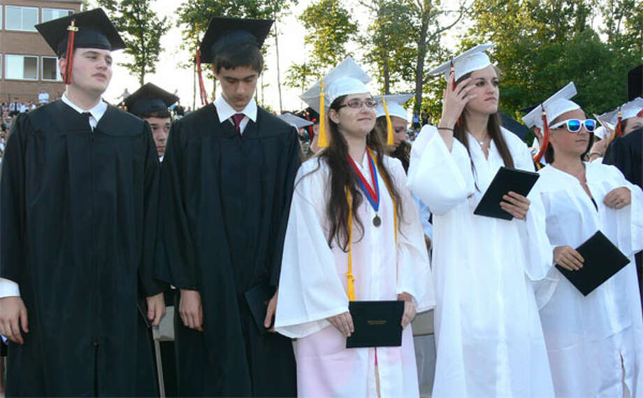A scene from the Shelton High School graduation.