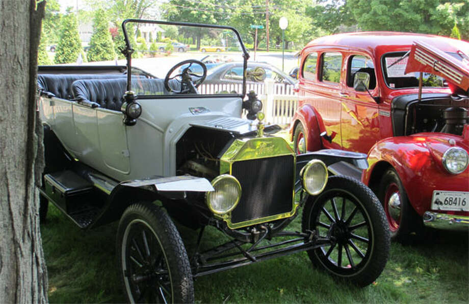 A scene from a past Shelton Historical Society car show at its Ripton Road property.