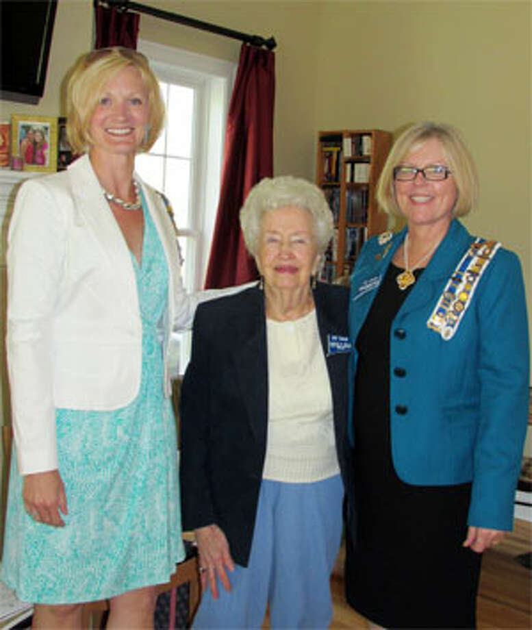 From left, outgoing local DAR chapter regent Barbara Wells of Shelton, chaplain Lucille Wells of Shelton, and incoming regent Christy Hendrie.