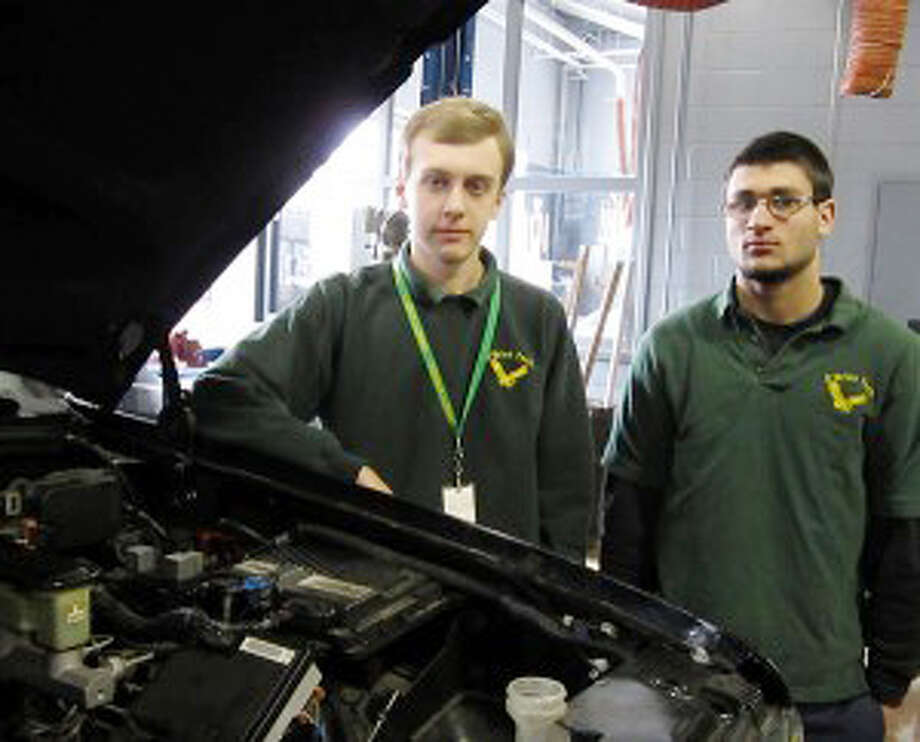Daniel Tatun and Mike Altman are headed to a national auto tech competition.