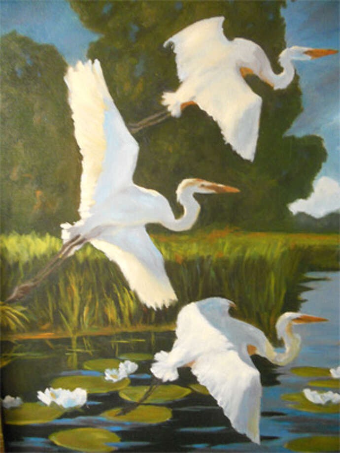 This painting by Shelton artist Diane Napolitano won Best in Show in the 2011 Bridgeport Art League juried show.